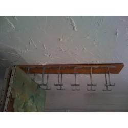 Suspente accroche-tableau Étend'Art de 12 emplacements standards de 21 mm